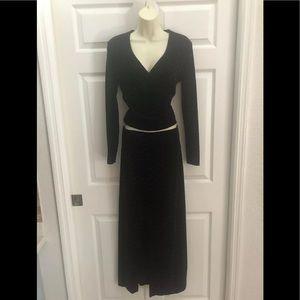 Cache velvet top & skirt combo sz. Small